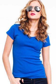 Синяя футболка из 100% хлопка Mondigo