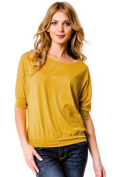 Блуза с рукавами летучая мышь Mondigo