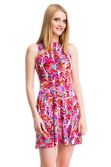 Платье с геометрическим рисунком Mondigo