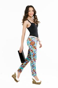 Яркие летние брюки Sofia