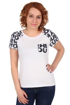 Белая футболка с карманом ElenaTex со скидкой