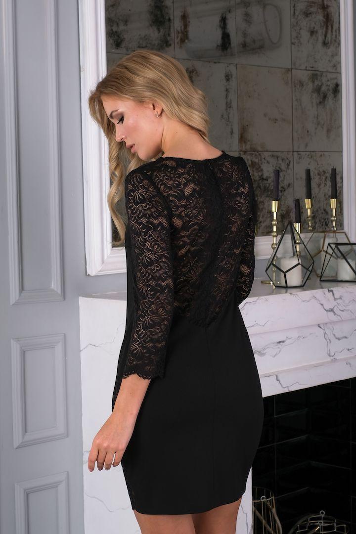 черное платье с рукавичками фото горячими ножницами
